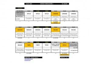 Itinéraire prévisionnel Andalousie  Juillet 2015-1